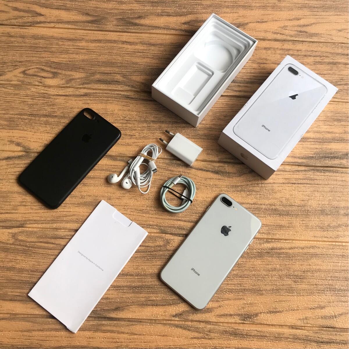 Terjual iphone 8 plus 64gb silver fullset ex ibox PA/A ...