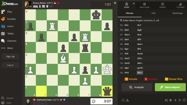 Viral, Bapak-bapak Kalahkan Gamer Catur Dunia GothamChess di Chess.com