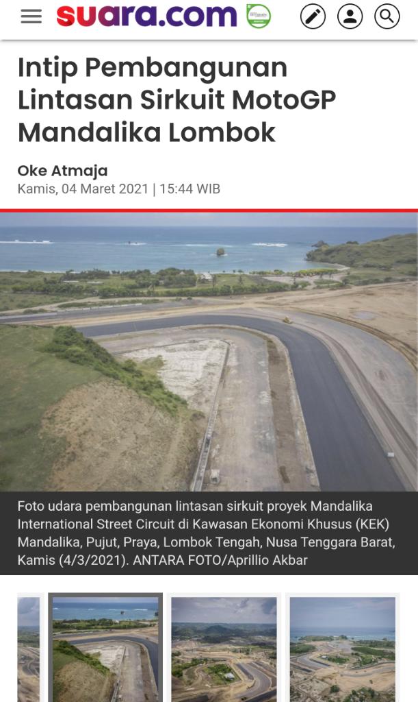 Sudah 54%, Intip Pembangunan Lintasan Sirkuit MotoGP Mandalika Lombok