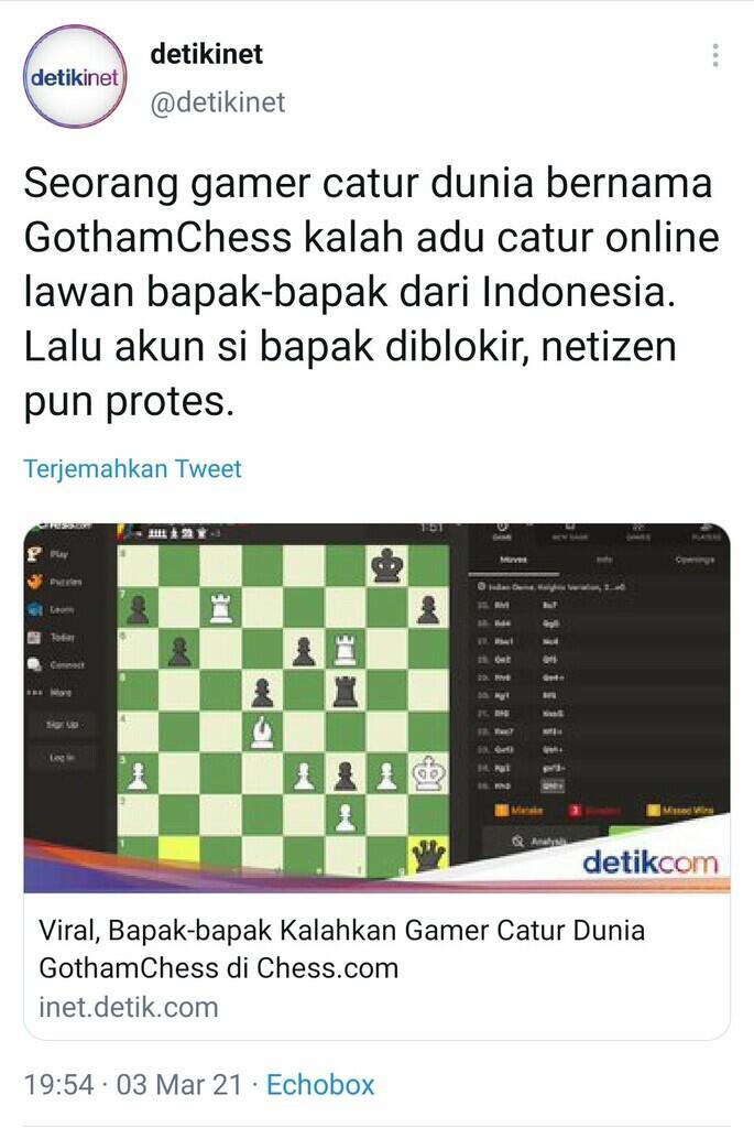 Pro Player Kalah Dunia Kalah Lawan Bapak-Bapak di Indonesia, Dikira Ngeche*at Akun si