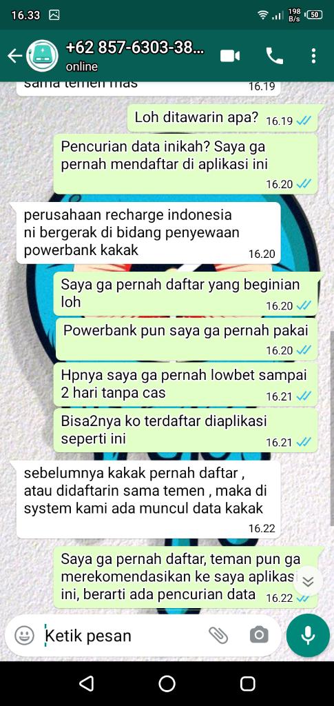 Aplikasi Sharedmp Recharge Indonesia, Apakah Mencuri data? Saya Tidak Pernah daftar