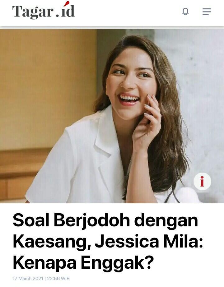 Soal Berjodoh dengan Kaesang, Jessica Mila: Kenapa Enggak?
