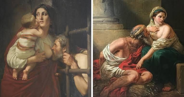Pria Tua 'MENYUSU' Ke Wanita Muda, Inilah Kisah Dibalik Lukisan Pero & Cimon