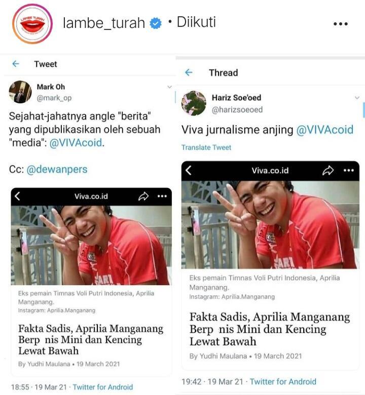 Media Viva Dihujat Netizen, Bikin Judul Berita Tentang Manganang Tidak Tahu Etika