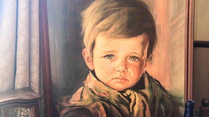 Crying Boy, Lukisan Terkutuk yg Bisa Membakar Rumah