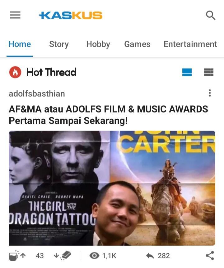 AF&MA atau ADOLFS FILM & MUSIC AWARDS Pertama Sampai Sekarang!