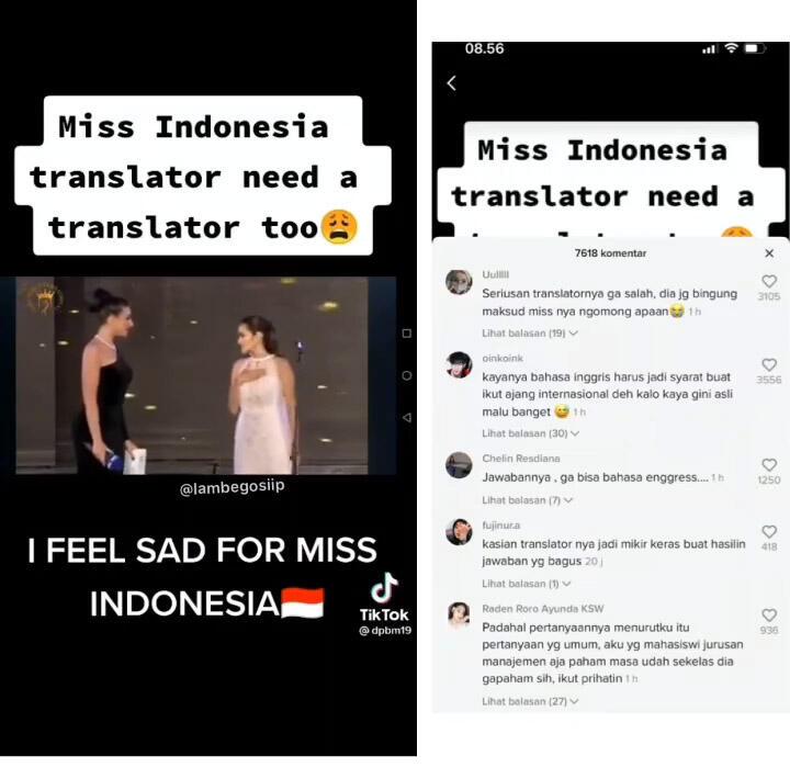Miss Eco Indonesia Kewalahan Jawab Pertanyaan Juri, Gak Bisa Bahasa Inggris?