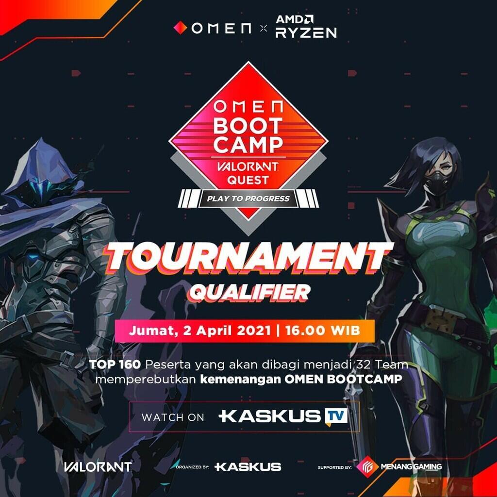 4 Team Bentukan Dalam OMEN Bootcamp VALORANT Quest Play to Progress