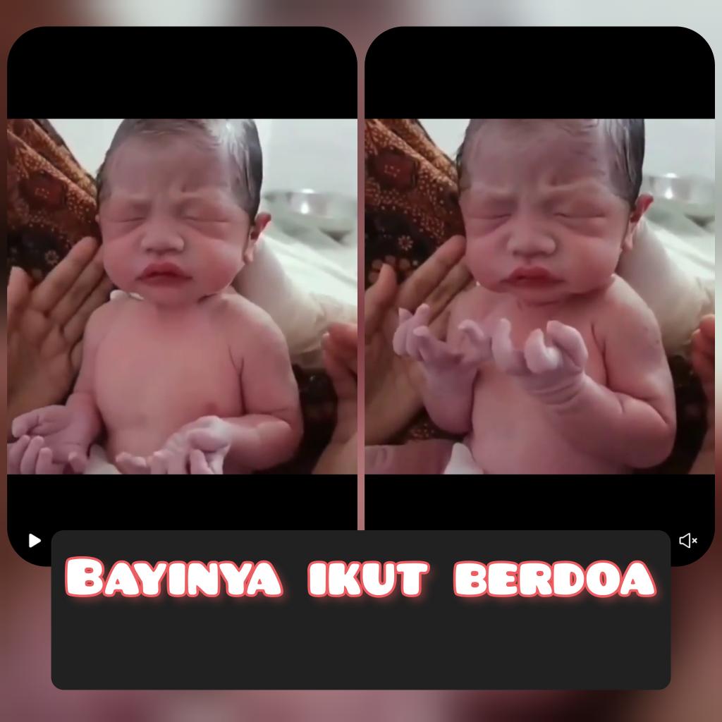 Bayi Ini Tampak Ikut Berdoa Setelah Dilahirkan, Netizens : Anak Saleh
