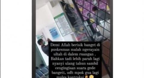 Viral Pasien Kontraksi, Petugas Malah Rayakan Ultah di Puskesmas Kutabumi