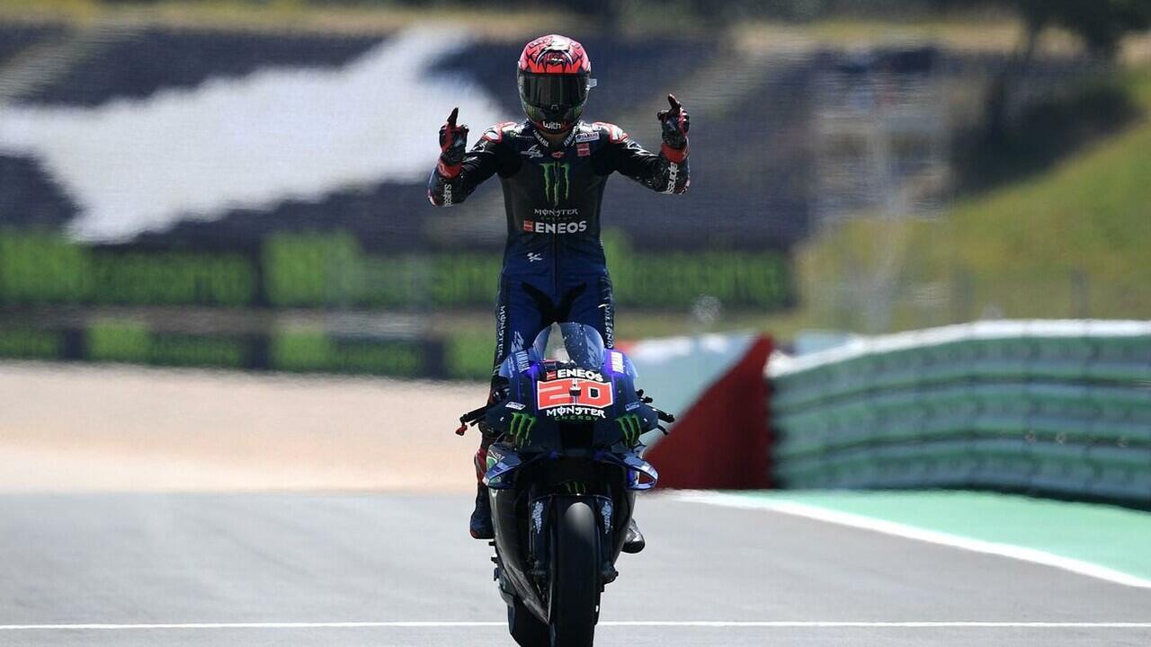 Juara MotoGP Portugal, Fabio Quartararo Selebrasi Ala Cristiano Ronaldo