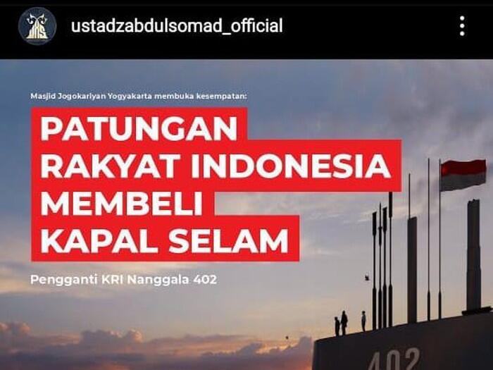 UAS Ajak Warga Patungan Beli Kapal Selam Pengganti KRI Nanggala-402
