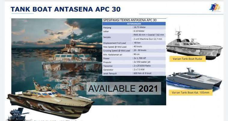 Tank Boat Antasena Siap Menerkam Lawannya