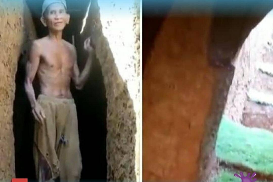 Habiskan Waktu 2 Tahun, Kakek Asal Bone Bikin Rumah Bawah Tanah, Berikut Hasilnya