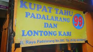Kenyang Dan Mantap, Kupat Tahu Padalarang 99 Jagonya !