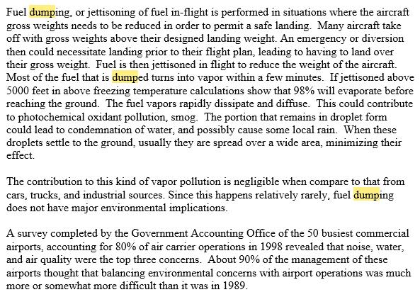 Mengapa Pesawat Membuang Bahan Bakar di Udara Sih ? Apa Gak Bisa Kira-Kira Kebutuhan?