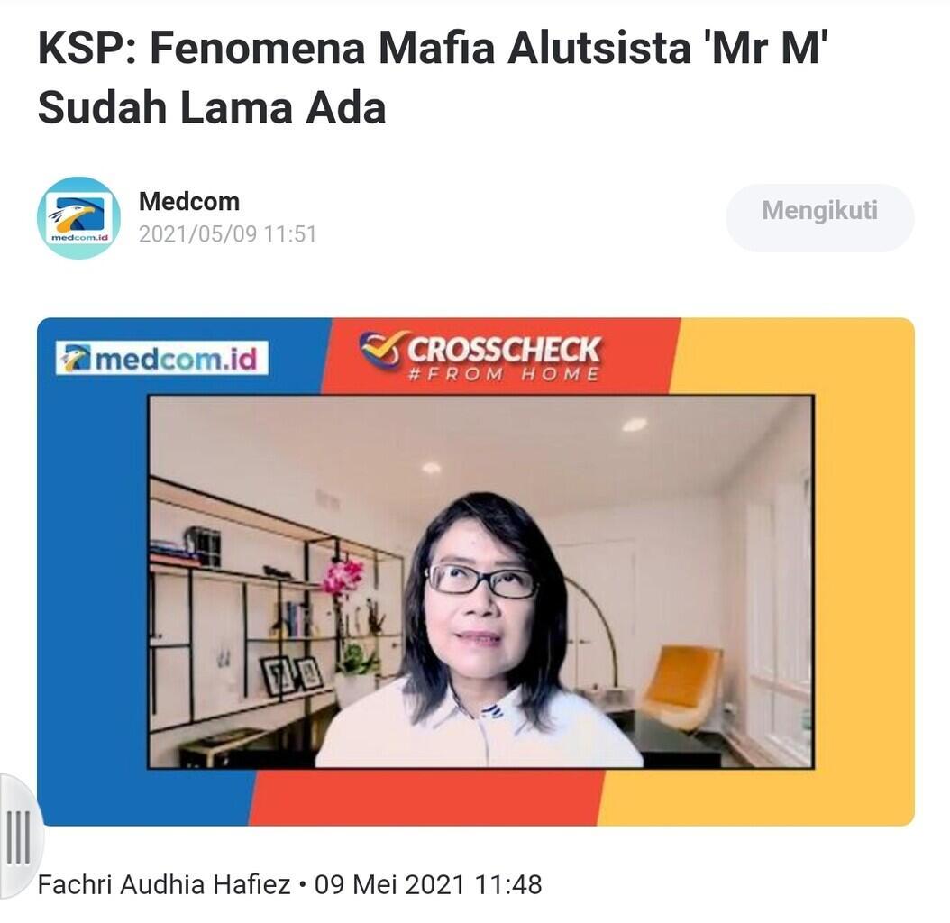 KSP: Fenomena Mafia Alutsista 'Mr M' Sudah Lama Ada