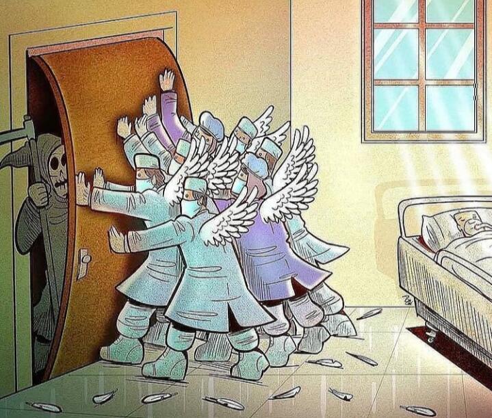 5 Ilustrasi Tenaga Kesehatan Saat Pandemi Ini Keren Abis! Bikin Mata Hati Terbuka