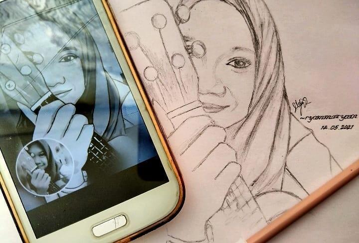 Yuk Menggambar Potret Wajah Dengan Cara Mudah. Bisa Dijadiin Cuan/Kado Buat Pasangan