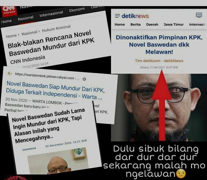 Novel dan 75 Pegawai KPK Nonaktif, #BeraniJujurPecat Bergema