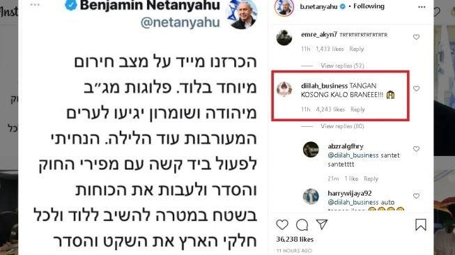 Serbu Akun IG Perdana Menteri Israel, Netizen Indonesia Bela Palestina