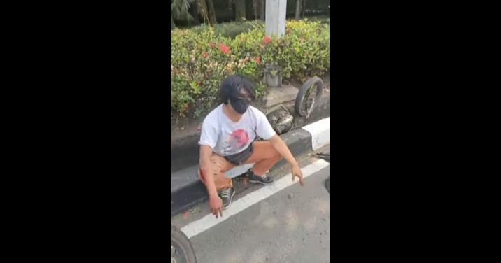 Waspada Begal Payudara, Viral Penangkapan Pelaku Pelecehan Pada Pengemudi Sepeda