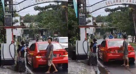 Mobil Mewah Kepergok Beli Bensin Eceran Pinggir Jalan, Publik Beri Pujian