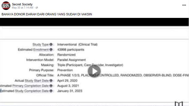 Benarkah Menerima Donor Darah dari Orang yang Sudah di Vaksinasi Covid-19 Berbahaya?