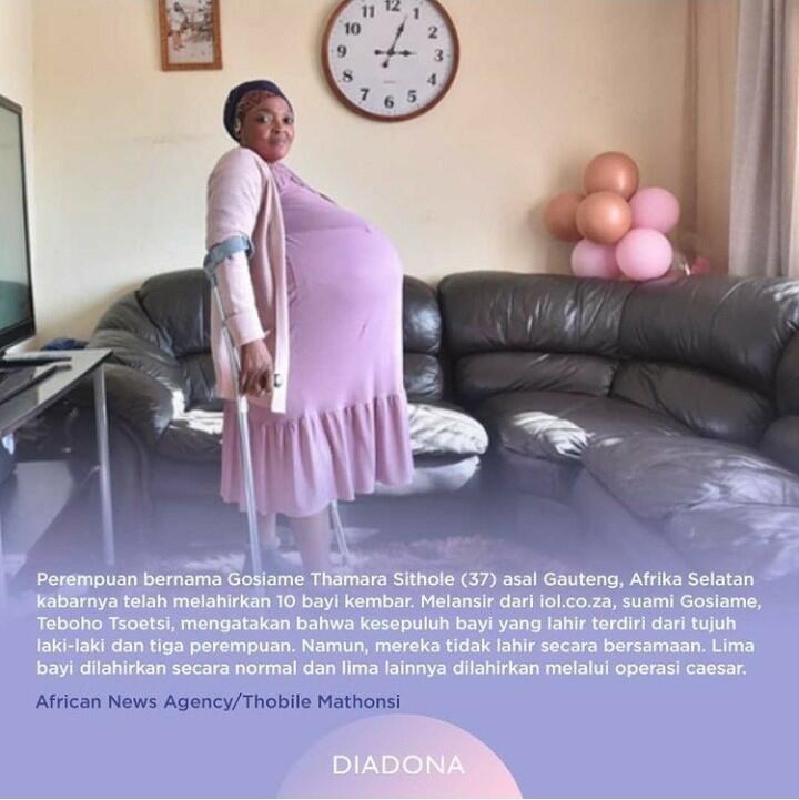 Bagaimana Kabarnya Ibu Bayi Kembar 10 di Afrika Selatan?
