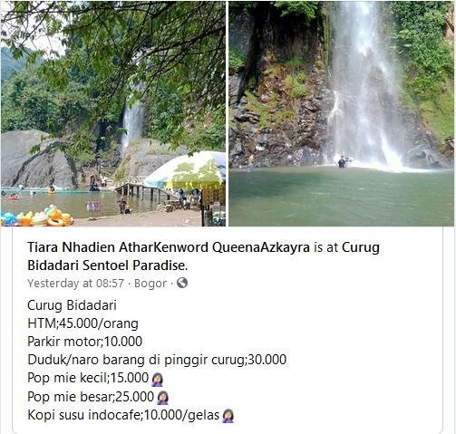 Viral Harga Tiket Masuk Selangit, Curug Bidadari Sentoel Bogor Jadi Sorotan!