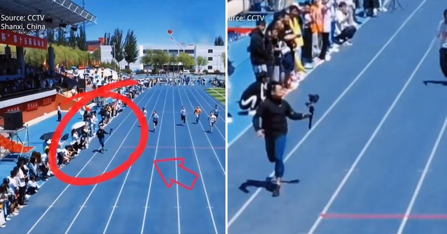 Video Viral 'MAHASISWA' Saat Meliput Lomba Lari 100m Ini Bikin Netizen Takjub