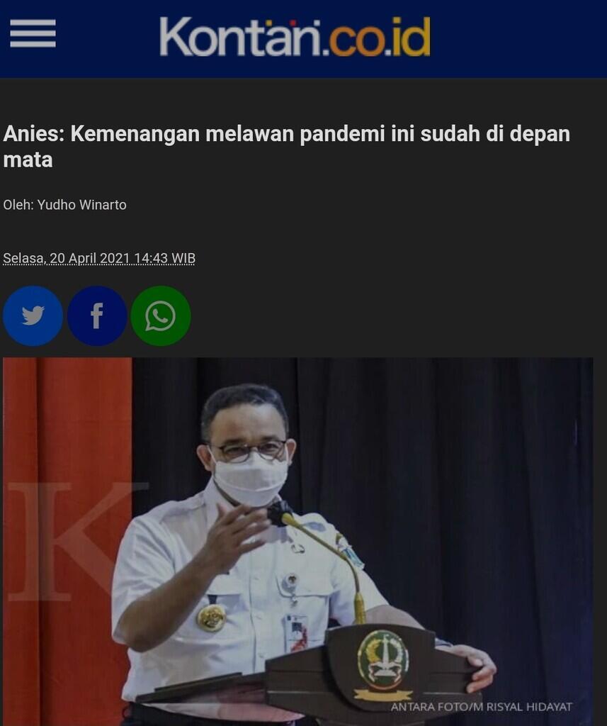 Kasus COVID di DKI Melonjak, Anies Wanti-wanti Pengetatan Ekstra
