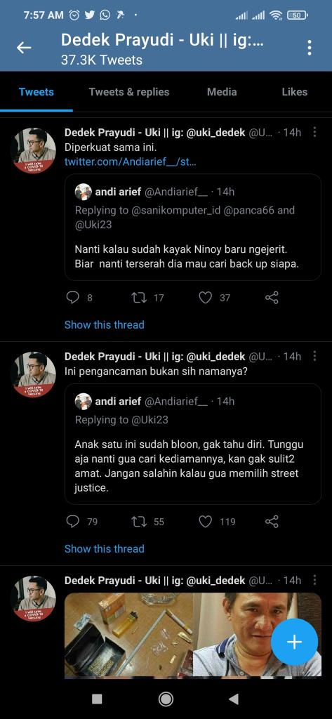 Andi Arief ke Uki: Jangan Salahin Kalau 'Gua' Memilih Street Justice