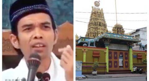 Keras! Ustadz Somad Dicibir Masuk Kuil Hindu Shri Mariamman: Manusia Munafik, Jijik