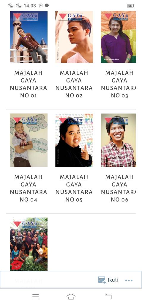 Arsib: Majalah LGBT Zaman Bahola, Wajib Kepo!