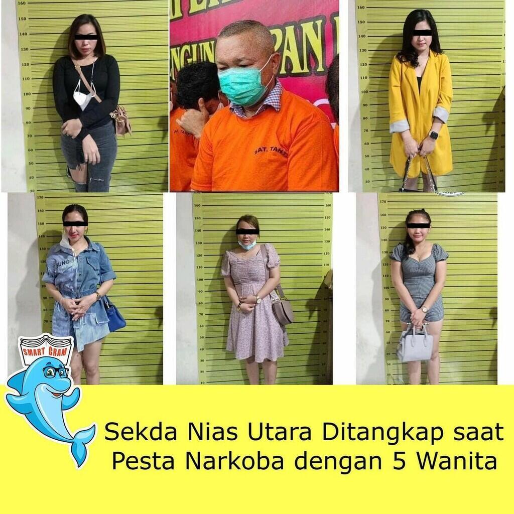 Bukan Main, Pejabat Daerah Nias Terjaring Razia Narkoba Bersama 5 Wanita Muda!