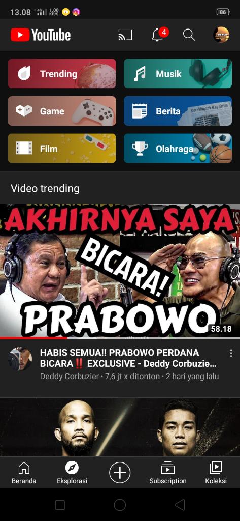 Dedy Corbuzier Undang Prabowo Ke Podcastnya Trending 1 Youtube