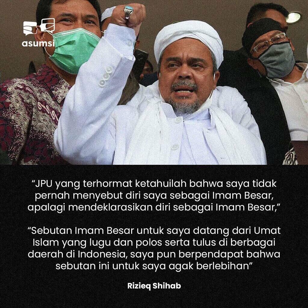 HRS Khawatir Jutaan Orang Kepung Pengadilan Gegara Hinaan ke 'Imam Besar'