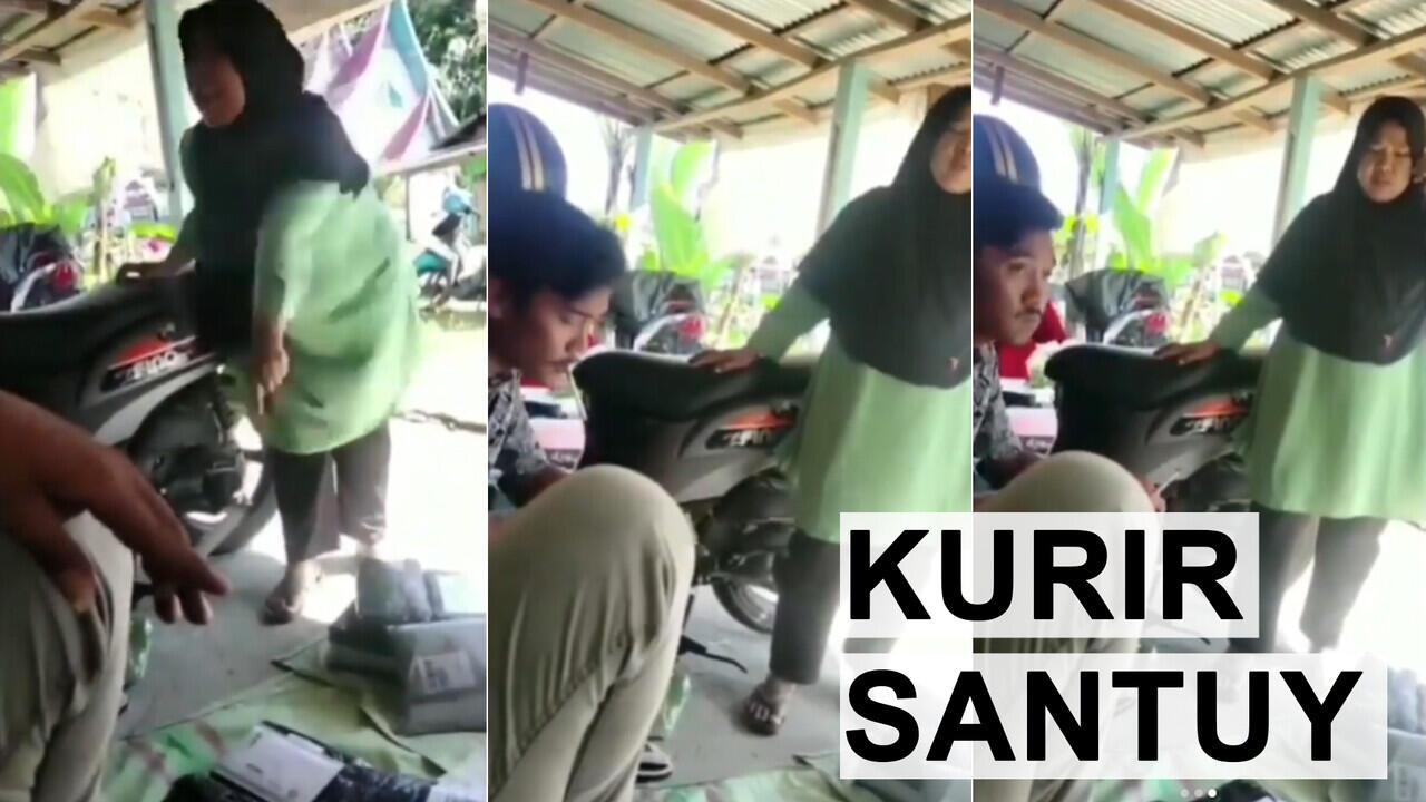 Emak-Emak Ngamuk Parah, Kurirnya Selow Aja. Bosen Kali Ya Dimarahi ?