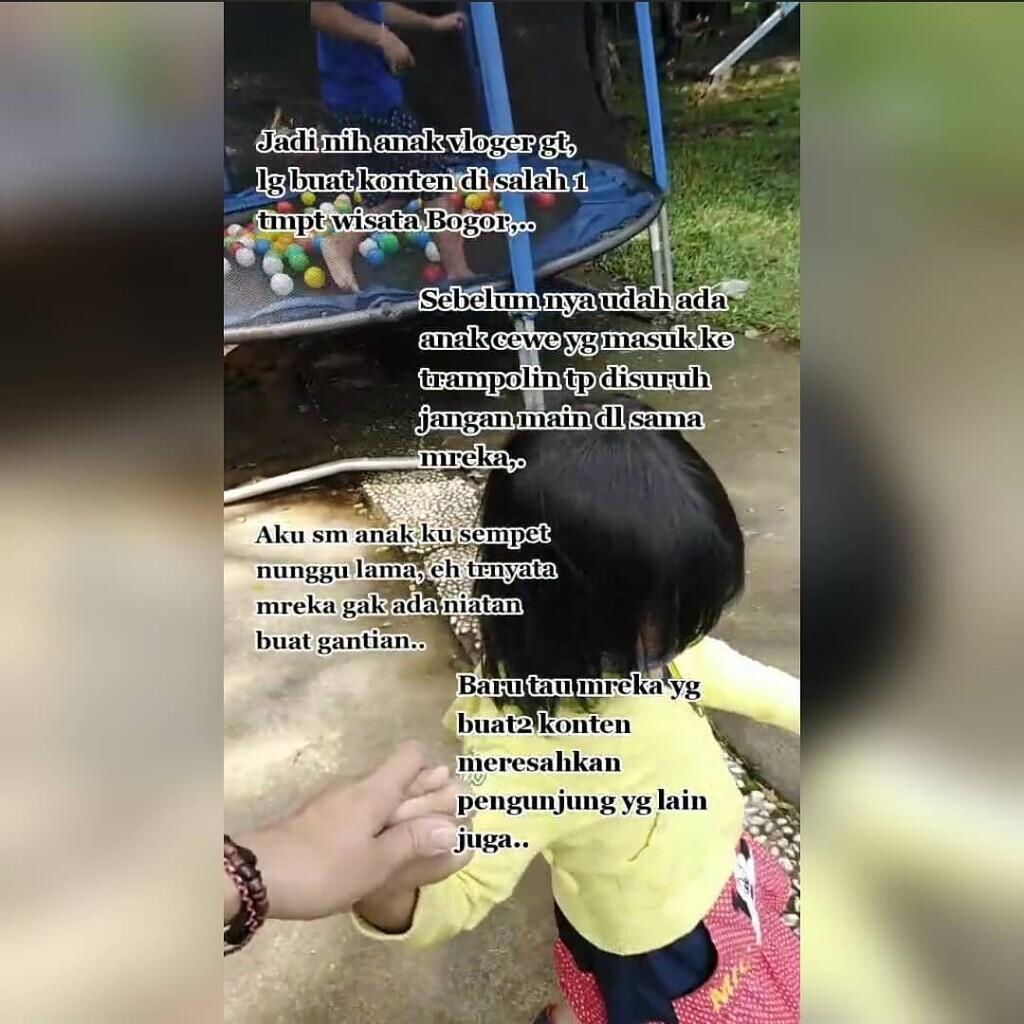 Viral Video Aksi Anak Seorang Yutuber Waktu Ngonten Di Tempat Wisata, Menuai Kecaman!
