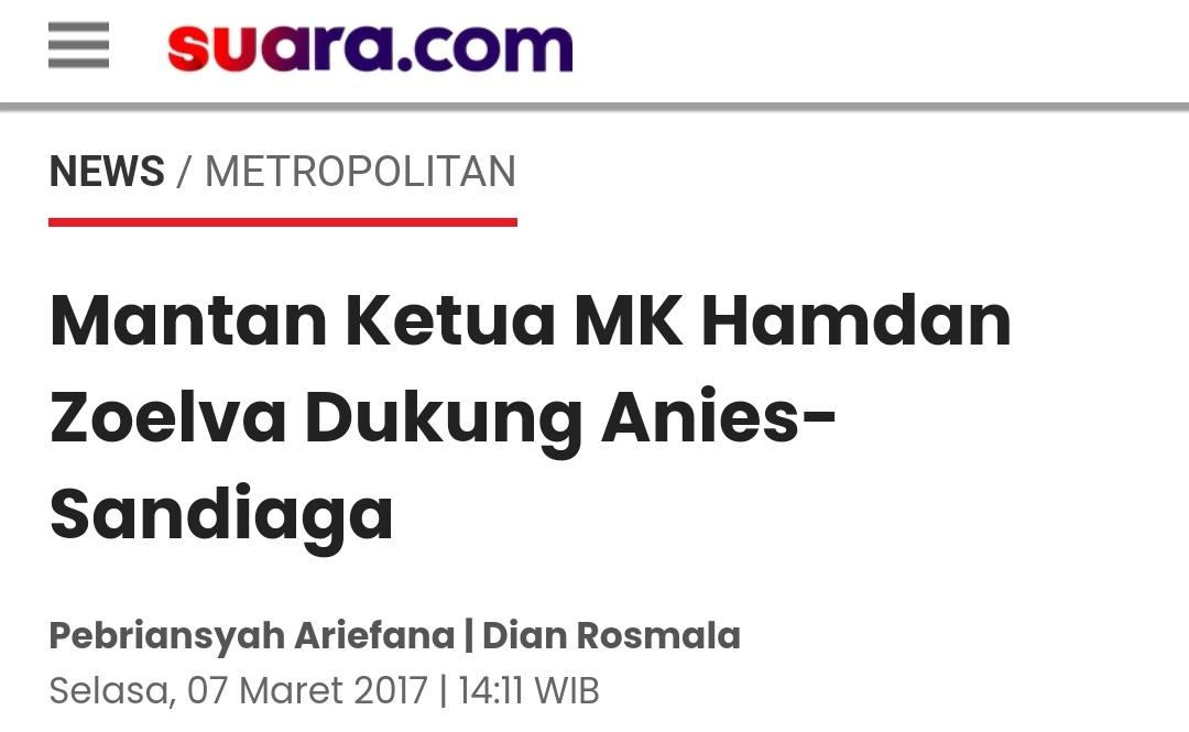 Hamdan Zoelva Diangkat Jadi Komisaris Utama Jakarta Propertindo