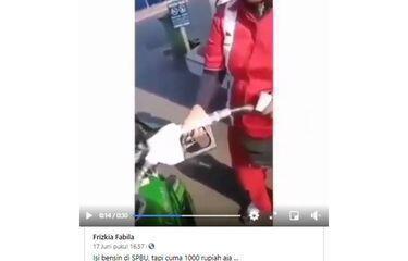 Viral Video Warga Pakai 1.000 Rupiah Untuk Isi Bensin! Ini Penjelasan Pertamina