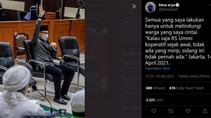 Habib Rizieq Divonis 4 Thn, Netizen Ke Bima Arya 'Kamu Tak akan Pernah Tidur Nyenyak'