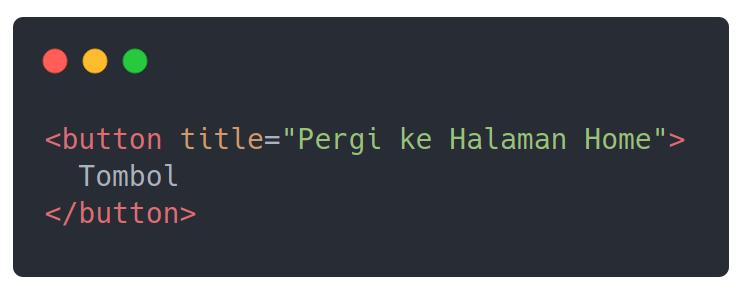 Mengenal title Attribute di HTML