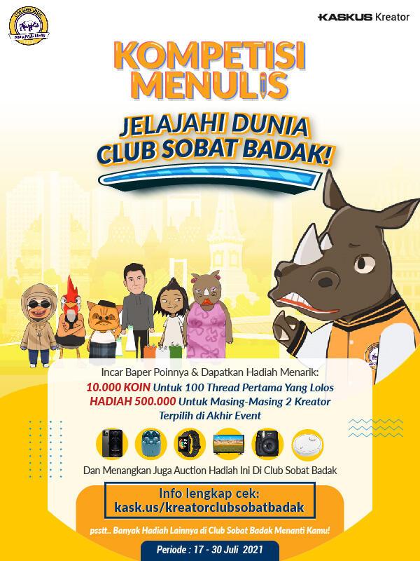 Jelajahi Club Sobat Badak, Raih Barang Impianmu pada Auction & Ikuti Event Kreatornya