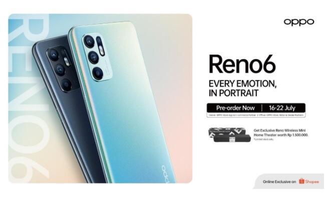 Si Kamera Canggih & Gaming Lancar Rilis! Buruan Preorder OPPO Reno6 di Shopee