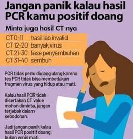 Nilai CT Pada Tes PCR Menentukan Kesembuhan Pasien Covid? Cek Dulu Faktanya!