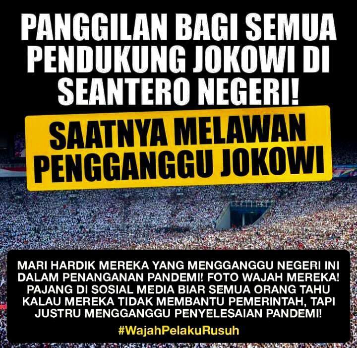 Bongkar Identitas Provokator Demo Jokowi End Game, Netizen: Alumni 212