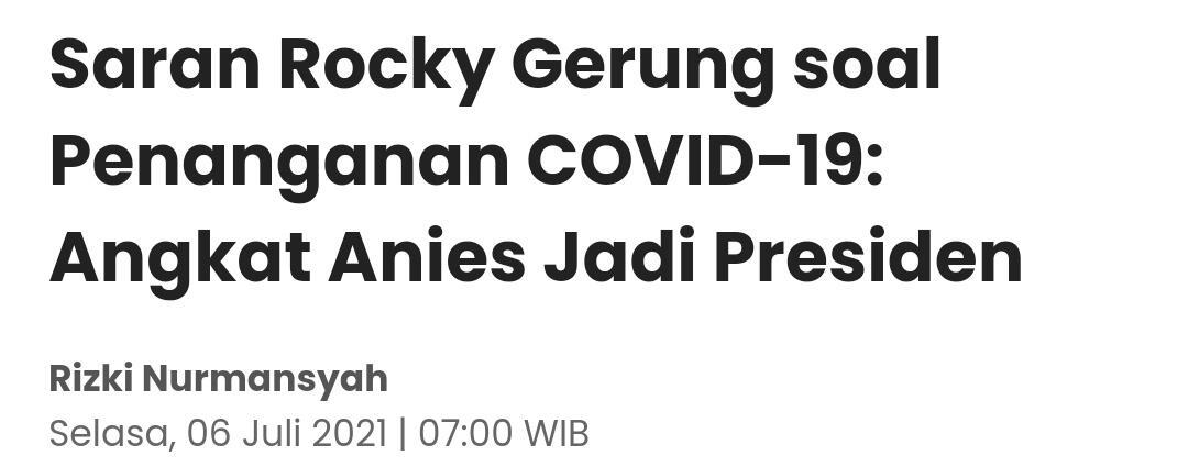 Menohok! Rocky Gerung Kritik Jokowi Cari Obat Ke Apotek: Siap-siap Kalian Meninggal