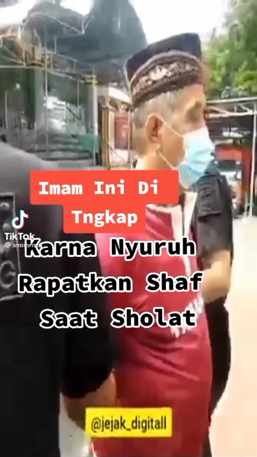 Imam Ditangkap Karena Nyuruh Rapatkan Shaf Saat Shalat, Fakta ato Hoax ??